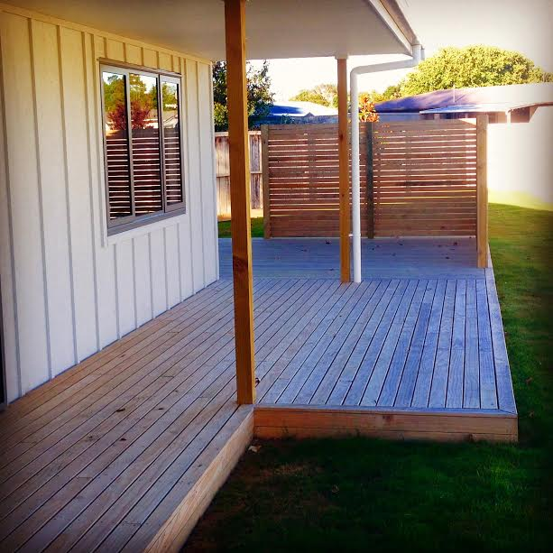 Supreme build ltd builders palmerston north decks for Ready made decking frame
